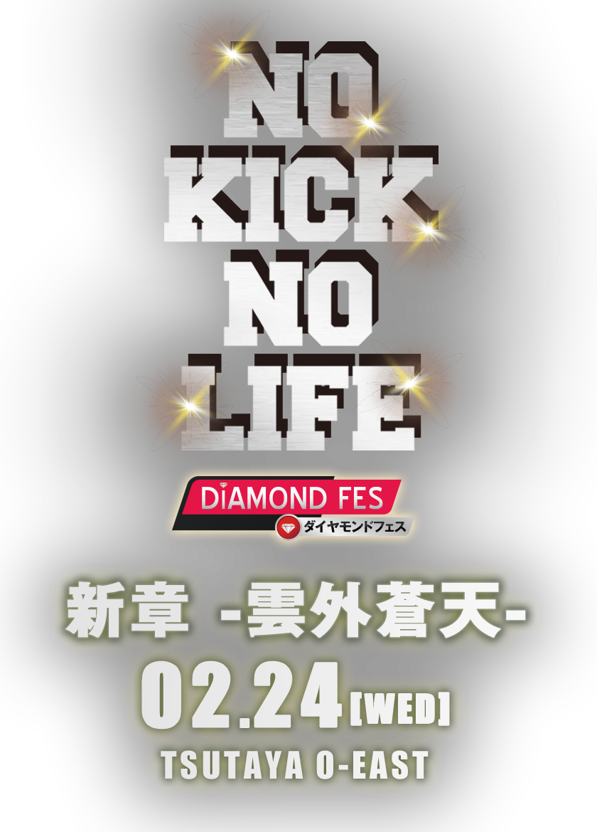 NO KICK NO LIFE X  DIAMOND FES